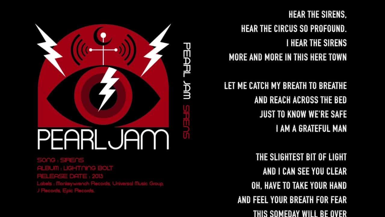 SIRENS . Pearl Jam (mi EDDIE )